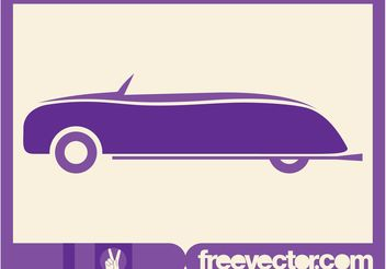 Stylized Retro Convertible Car - vector gratuit(e) #149061