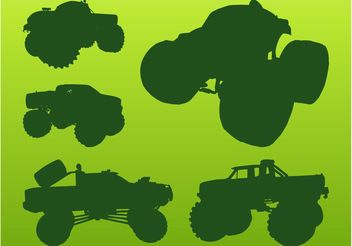 Monster Trucks - Free vector #149081