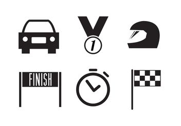 Racing Icon Collection - Free vector #149111