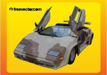 Camouflage Lamborghini - Free vector #149131