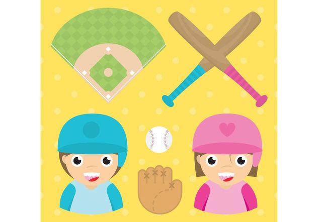 Baseball Vector Set - vector #149141 gratis