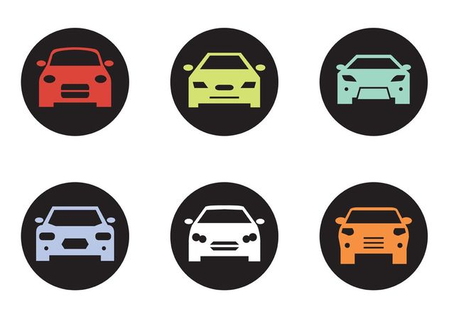 Black Car Front Silhouettes - Free vector #149151