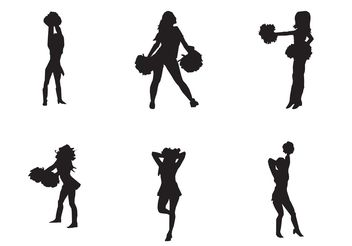 Free Vector Cheerleader Silhouette - Free vector #149161