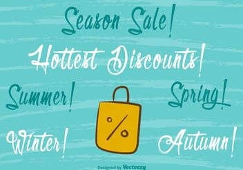 Seasonal Hot Sale Handmade Lettering - бесплатный vector #149261
