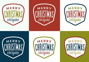 Christmas Label - vector #149271 gratis