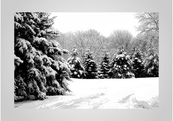 Winter Forest - vector #149291 gratis