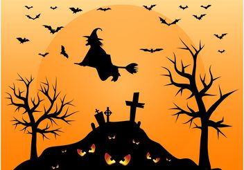 Halloween Cemetery - Free vector #149301