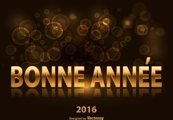 Bonne Annee Illustration - Free vector #149371
