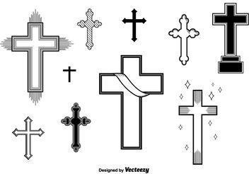 Set of Vector Crosses - Free vector #149501