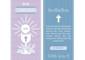 First Communion Invitation Vectors - vector gratuit #149511