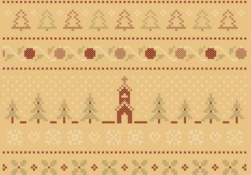 Cross Stitch Winter Set - Free vector #149521