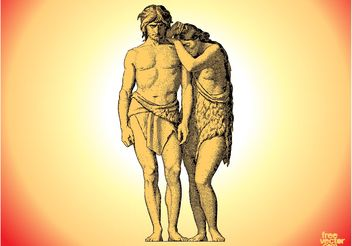 Adam And Eve - Free vector #149611