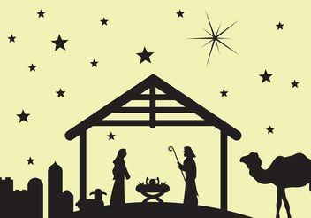 Manger scene / Nativity scene - Free vector #149621