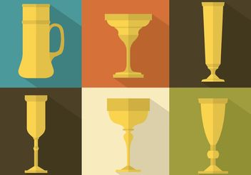 Medieval Goblet Vector Set - Free vector #149741