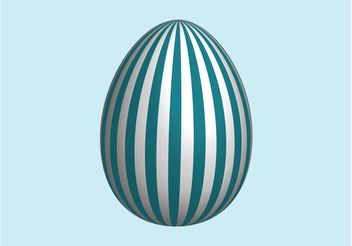 Striped Easter Egg - vector gratuit #149761