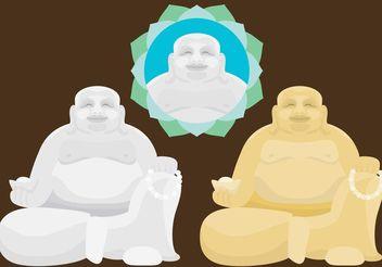 Fat Buddha Vectors - Free vector #149851