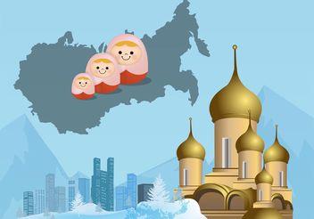 Russian Landscape - vector gratuit #149891