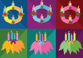 Simple Advent Wreath Vectors - Free vector #149911