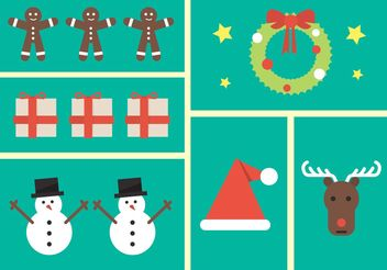 Christmas icons - vector gratuit #149931