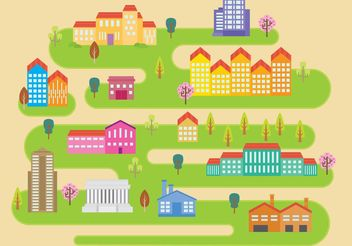 Little City Vector - Free vector #149991