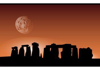 Stonehenge Vector - Free vector #150031