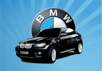 BMW X6 Vector - Kostenloses vector #150061