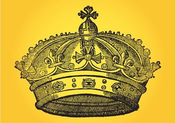 Hand Drawn Crown - vector gratuit #150101
