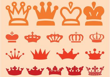 Crown Graphics Set - Free vector #150111