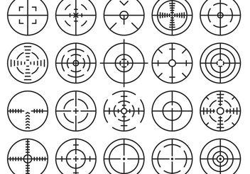 Crosshairs Vectors - Kostenloses vector #150131
