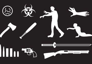Zombie Icons - Kostenloses vector #150231