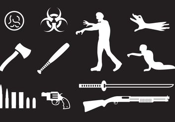 Zombie Icons - Free vector #150231