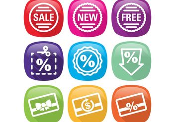 Flat Percent Icon Vectors - Free vector #150321