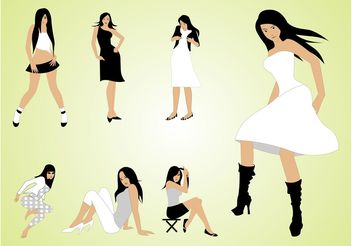 Fashion Girls - vector gratuit #150461