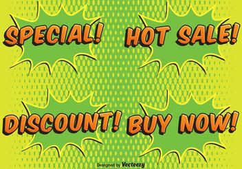 Comic Style Sale Labels - vector #150501 gratis