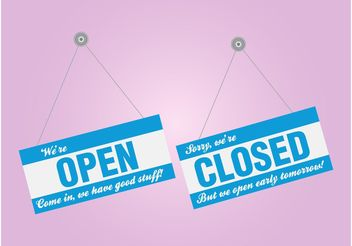 Shop Signs - Free vector #150641
