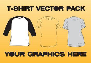 T-shirt Vector Pack - Kostenloses vector #150671