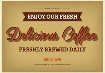 Vintage Typographic Coffee Poster - Free vector #150711