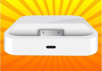 iPhone Dock - Kostenloses vector #150721