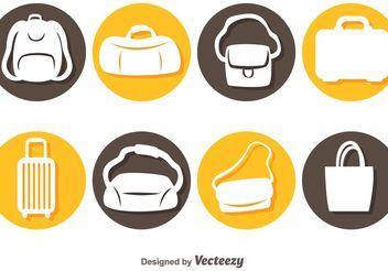 Vector Bags Icons - бесплатный vector #150751