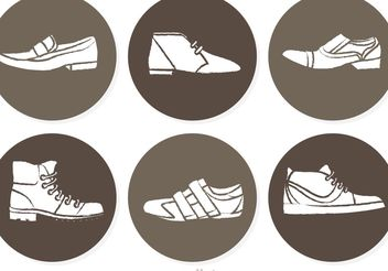Man Shoes Circle Vectors - vector gratuit #150771