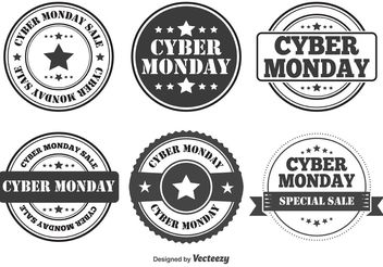 Cyber Monday Retro Style Badges - Free vector #150781
