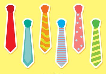 Set Of Vector Ties - Free vector #150831