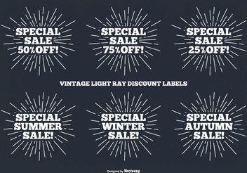 Vintage Label Set - Kostenloses vector #150841