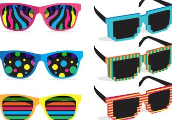 Colorful 80's Sunglasses Vectors - Kostenloses vector #150851