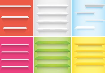 3D Shelves Vectors - Free vector #150921