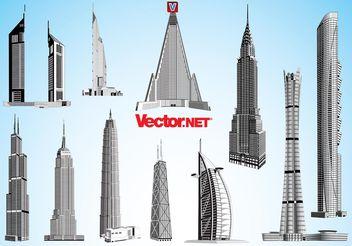 Skyscraper Vectors - vector #150951 gratis