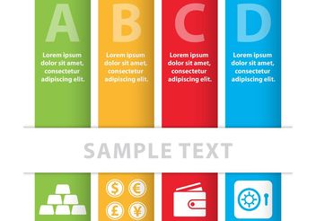 Colorful Business Vector Banners - vector gratuit #151051
