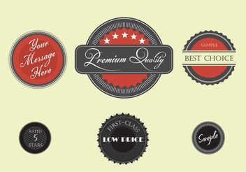 Free Vector Labels - бесплатный vector #151091
