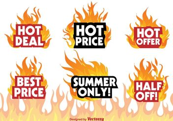 Hot Deal Badge Signs - vector gratuit #151141