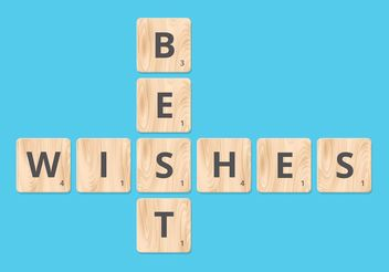 Free Best Wishes On Scrabble Blocks Vector - Kostenloses vector #151161